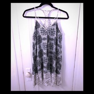 Green and white racerback sundress size xs